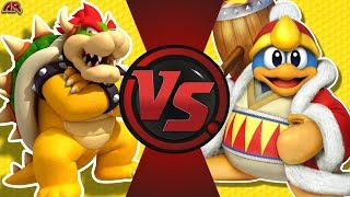 BOWSER vs KING DEDEDE! (Mario vs Kirby) Cartoon Fight Club Episode 176