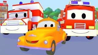 Tom der Abschleppwagen  und Polizeiauto, Feuerwehrauto, Krankenwagen, Müllauto in Autopolis 🚚🚑🚒