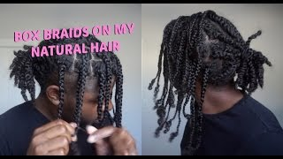 Twists to  Box Braids   Men's Natural Hair Protective Styling