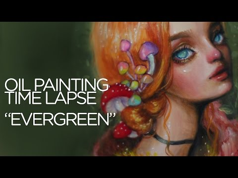 Xxx Mp4 OIL PAINTING TIME LAPSE Red Haired Forest Nymph Quot Evergreen Quot 3gp Sex