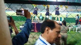Cheer girls dance at Green Park Stadium KKR vs GL