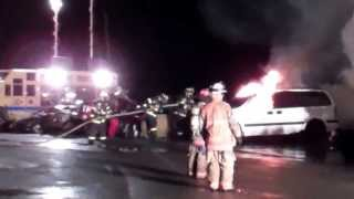 Westerlo Volunteer Fire Co. & Fuller Road Fire Dept. Car Fire Drill
