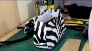 How to make a designer handbag-zebra/ sewing your handbag 2