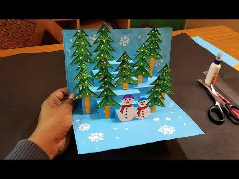 Xxx Mp4 3D Christmas Pop Up Card How To Make A 3D Pop Up Christmas Greeting Card DIY Tutorial 3gp Sex