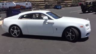 Shooting a white Rolls-Royce Wraith