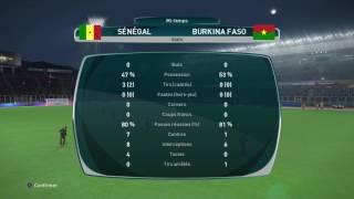 PS4 PES 2017 Gameplay Senegal vs Burkina Faso HD