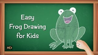 Easy Frog Drawing for Kids | Kids Learning Video | Shemaroo Kids