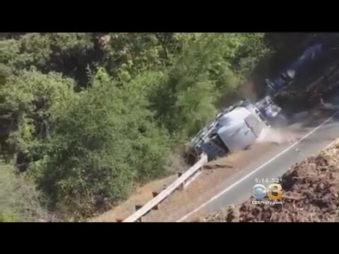 Xxx Mp4 Oversized Truck Tips Over Into Ravine In Stunning VIral Video 3gp Sex