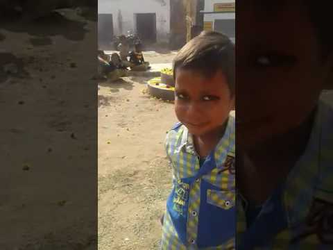 Desi child singing a funny poem
