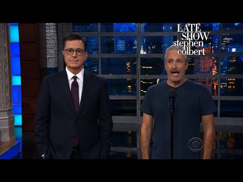 Jon Stewart Grants Trump s Request For Equal Time On Late Night