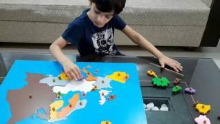 Moksh's World Geography Activity_26: Identifying Countries Of Europe & A Montessori Puzzle Map