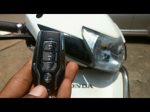 How to install anti-theft security alarm for all motorcycle's and scooters   Honda activa 3g