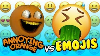 Annoying Orange vs Emojis!