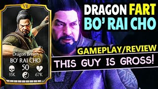 MKX Mobile 1.17. Bo Rai Cho Gameplay, Review. His PUKING X-Ray and Farting Specials ARE AWESOME!