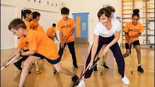 When Emma Watson surprised kids at East London hockey