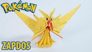 Paper Pokemon - Origami Zapdos - サンダー Team Instinct Tutorial (Henry Phạm)