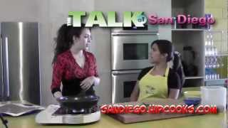 The Talk of San Diego Show with Andrea Bensussen at HipCooks in San Diego, CA