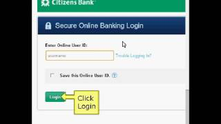 Citizens Bank Online Login Instructions