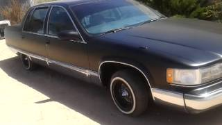 Blacked out Cadillac Fleetwood