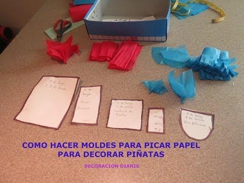 Como picar papel para pi atas china o crespon vidoemo - Papel adhesivo para decorar ...