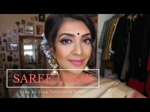 Xxx Mp4 Saree Look Tutorial In Tamil Vithya Hair And Makeup Artist 3gp Sex
