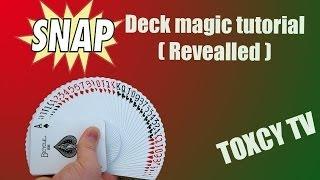 SNAP DECK Magic Trick +Tutorial (Revealed)