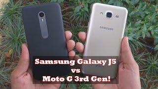 Moto G3 vs Samsung Galaxy J5-  In depth overall comparison!