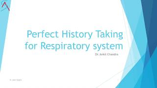 Perfect History taking for Respiratory case of General Medicine || Cough || Dr.Ankit Chandra