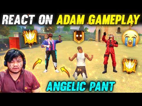 Noob Prank😂 Angelic Pant😮 And Red Criminal Bundle React On Noob Adam Gameplay Garena Freefire Noob