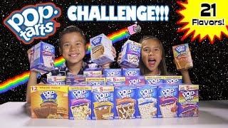 POP TART CHALLENGE!!! 21 Flavor Taste Test!