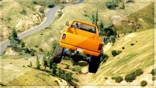 GTA 5 Funny Moments - Extreme Monster Truck Race - (GTA V Online Games Stunts)