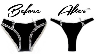 How to make a Thong using Old Undies. DIY NO SEW Thongs for last minute Wardrobe Malfunction