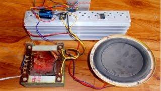 2x 100W rms Audio Amplifier / Zesilovač