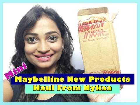 Mini Maybelline New Products Haul from Nykaa   Indian Mom on Duty