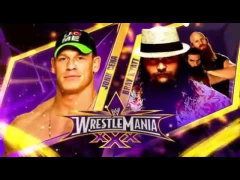 WWE Final Card Wrestlemania XXX Official