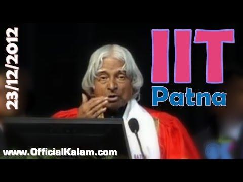 Dr APJ abdul Kalam at IIT Patna 1st Convocation, Dec 23 2012
