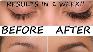 HOW TO DIY GROW YOUR EYEBROWS AND EYELASHES IN JUST 1 WEEK NATURALLY!!