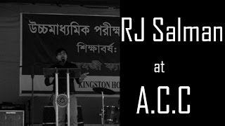 Speech by RJ Salman at Adamjee Cantonment College