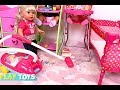 Download Video Baby Doll Washing Machine Laundry toys - Baby Dolls messy feeding vacuum cleaner doll house toys 3GP MP4 FLV