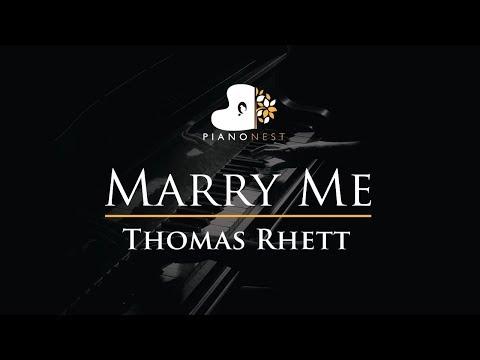 Thomas Rhett - Marry Me - Piano Karaoke  Sing Along  Cover with Lyrics