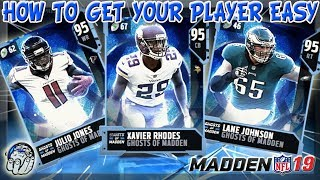 HOW TO GET THE GHOSTS OF MADDEN PRESENT PLAYER YOU WANT EASY! MADDEN 19 ULTIMATE TEAM!