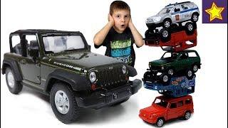 Машинки ДЖИП Рэнглер против внедорожников Гонки с машинками Cars Toys for children