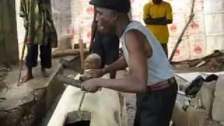 Carvers making a War Drum -- Afikpo, Ebonyi State, Nigeria (Part 2)