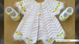 woolen frock design for baby girl || easy sweater design for baby or kids in hindi | sweater designs