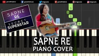 Sapne Re Song Secret Superstar Piano Cover Chords Instrumental By Ganesh Kini