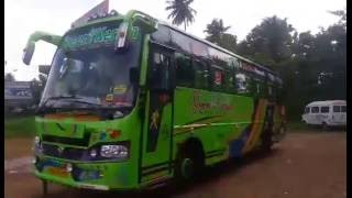 Green Kerala Tourist Bus Interior - DJ Night Floor