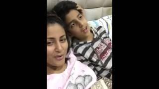 Hina Khan & Her cousin Bro singing Janam Janam