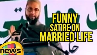 Asaduddin Owaisi Funny Satire On Married Life | Responds On Allegation Over Muslims Second Marriage