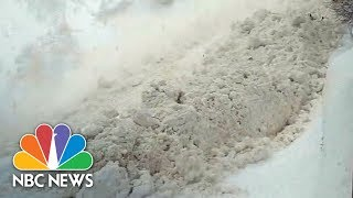 Huge Avalanche Caught On Camera Near Swiss Ski Resort | NBC News