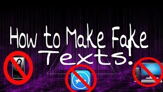 How to Make Fake Texts 1 Device No Apps/Jailbreak/Computers